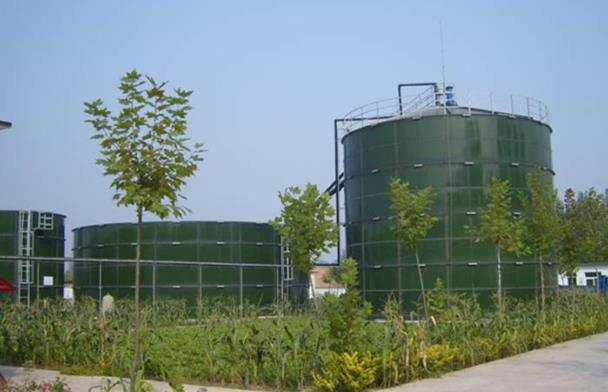 biogas plant storage tank