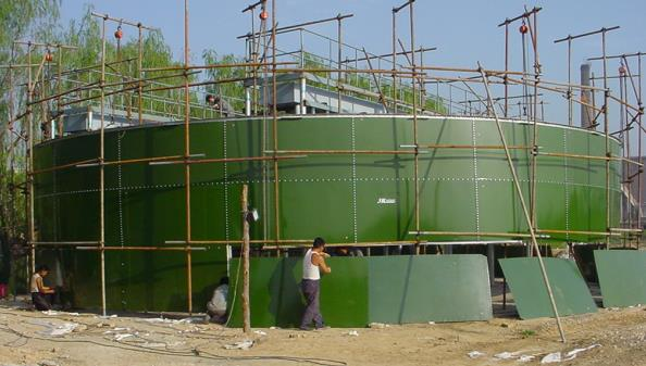 bolted steel tank construction
