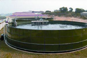 round water circular iron bolted tank