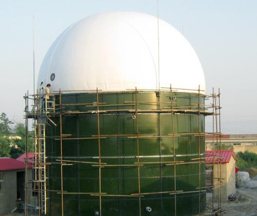 sizes of storage tank for biogass