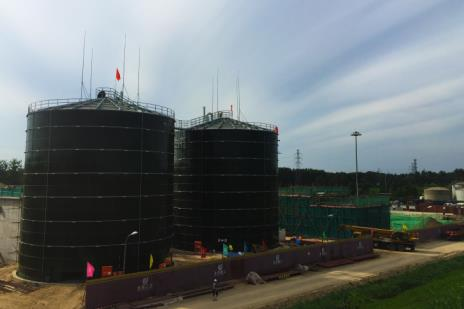storage tank in water treatment plant