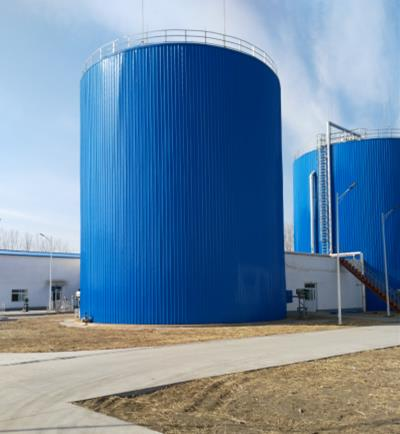 Assembly Biogas Anaerobic Digester Tank