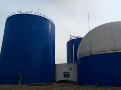 biogas assembled tank